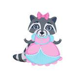 Girl Raccoon In Fancy Dress