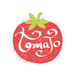 Tomato Name Of Vegetable Written In Its Silhouette