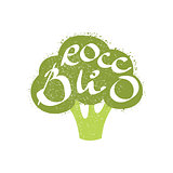 Broccoli Name Of Vegetable Written In Its Silhouette