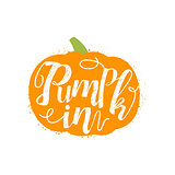 Pumpkin Name Of Vegetable Written In Its Silhouette