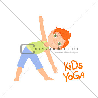 Boy In Triangle Pose