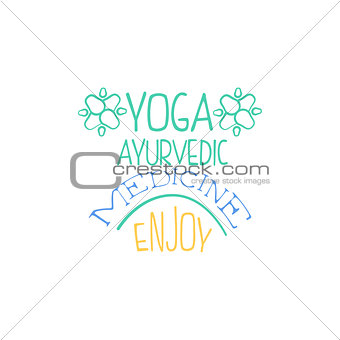 Ayurvedic Medicine Hand Drawn Promotion Sign