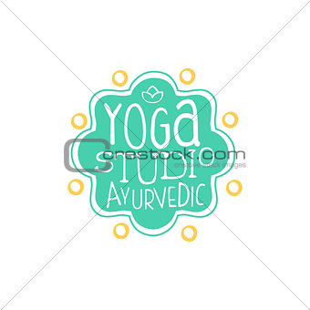 Ayurvedic Yoga Studio Hand Drawn Promotion Sign