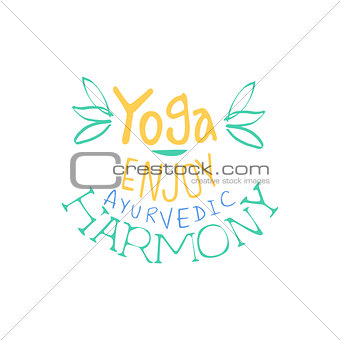 Ayurvedic Harmony Hand Drawn Promotion Sign