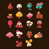 Chocolate Landscape Elements Set