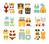 Beach Outfit Sets Of Clothing And Accessories