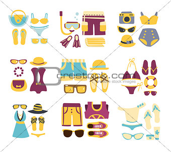 Beach Outfit Combinations Of Clothing And Accessories
