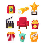 Movie Theatre Related Objects Collection