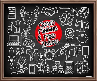 Crowd funding doodle set
