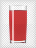 Red Fruit Juice in a Glass