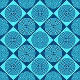 Blue seamless ornamental pattern