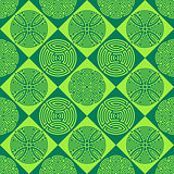 Green seamless ornamental pattern