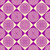 Violet seamless ornamental pattern