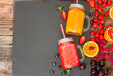 Fresh smoothy drink with igredients