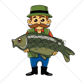 Fisherman Carrying Big Fish