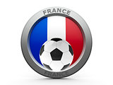 Icon - Flag of France with football