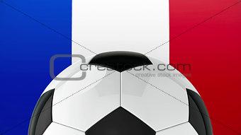 Football on Flag of France