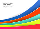 3d abstract lines full color background vector illustration