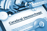 Cerebral Hemorrhage Diagnosis. Medical Concept.