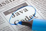 Now Hiring Java Coder.