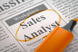 Now Hiring Sales Analyst.