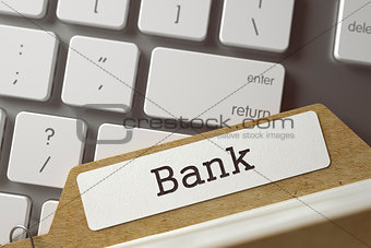 Folder Register with Bank.