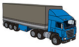 Blue cover semitrailer