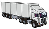 White long semitrailer