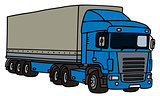 Blue cover semitrailer