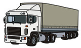 White cover semitrailer