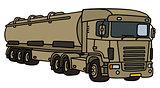 Military tank semitrailer