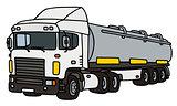 White tank semitrailer