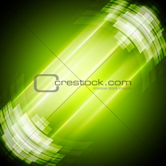 Abstract bright green technology background