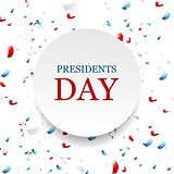 Presidents Day abstract USA colors confetti background
