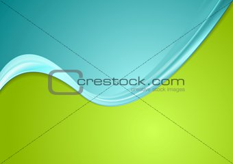 Green and cyan contrast gradient color wavy design