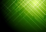 Dark green shiny tech vector brochure background