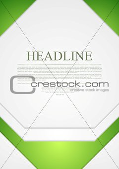 Corporate material tech flyer design