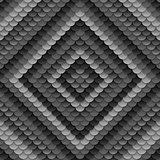 Dark grey abstract circles pattern