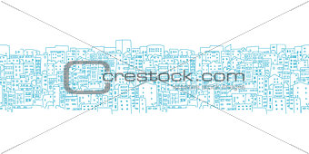 Abstract cityscape background, seamless pattern for your design