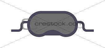 Sleeping mask vector illustration.