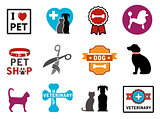 pet veterinary icons