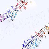 Music Multicolor Notes