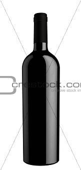 Black wine bottle silhouette