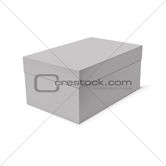 Blank paper or cardboard box template