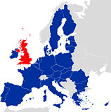 Brexit European Union Map