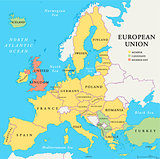 European Union Brexit Map