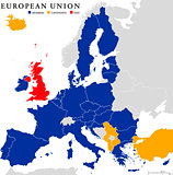 European Union Brexit Map Outline