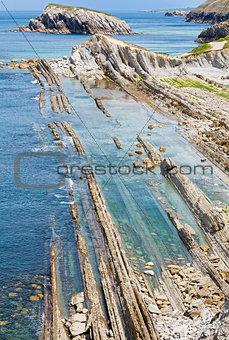 Arnia Beach coastline landscape.