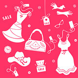 Set elements of sale for women