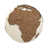 Africa on light Earth